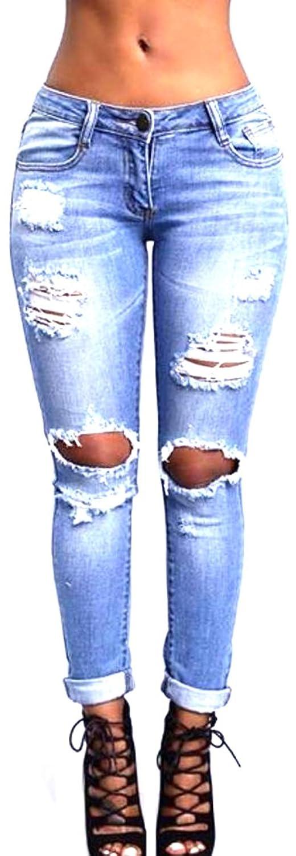 Yayu Women's Fashion Boyfriend Trousers Stretch Skinny Jeans