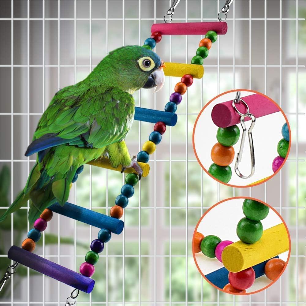 Finches ZYYRSS 6Pcs Bird Parrot Toys Birds Swing Toys Bird Cage ...