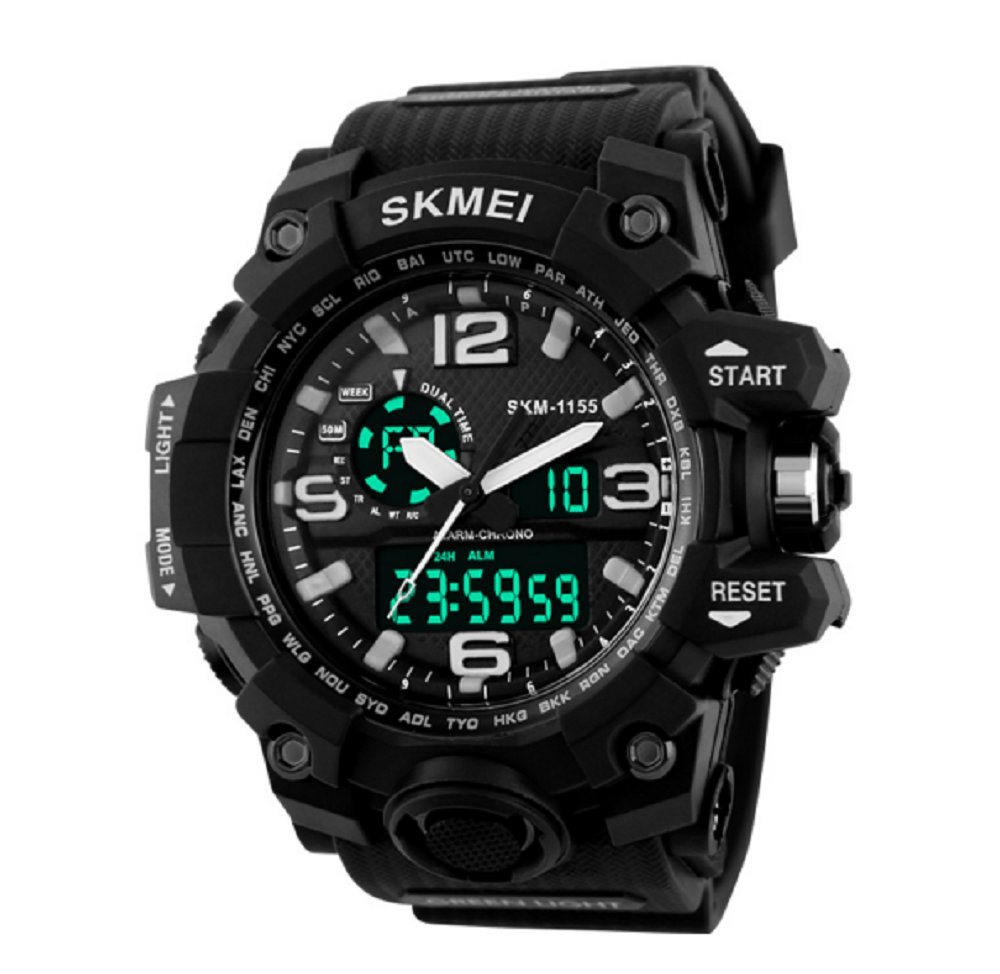 Amazon.com: Relojes de Hombre Sport LED Digital Military Water Resistant Watch Digital Men: Sports & Outdoors