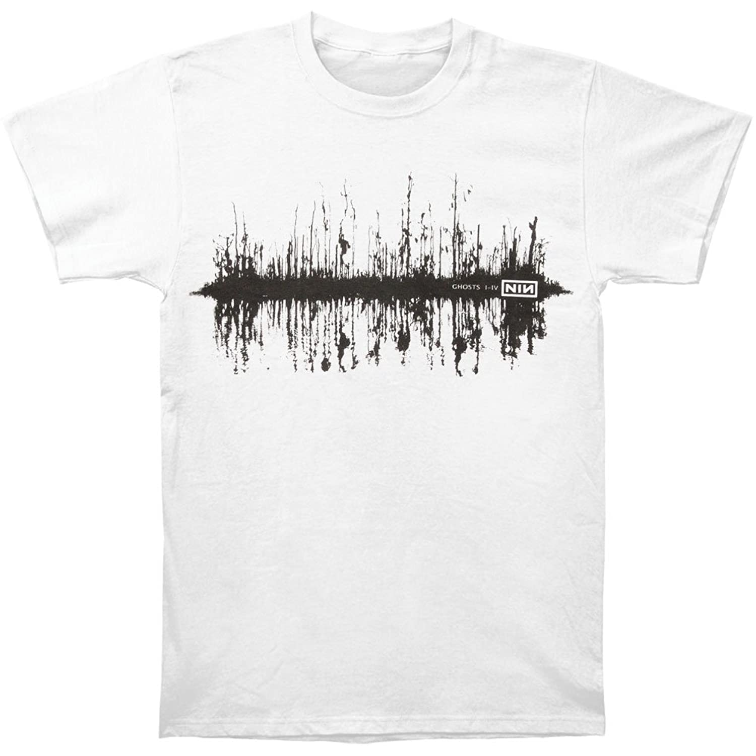 Amazon.com: Nine Inch Nails Men\'s Ghost Trees T-shirt White: Clothing