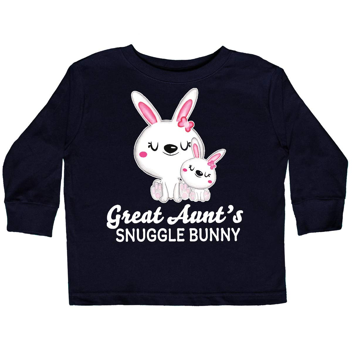 inktastic Great Aunts Snuggle Bunny Easter Toddler Long Sleeve T-Shirt