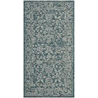 Safavieh Courtyard Collection CY8680-37221 Turquoise Indoor/ Outdoor Runner (23 x 12)