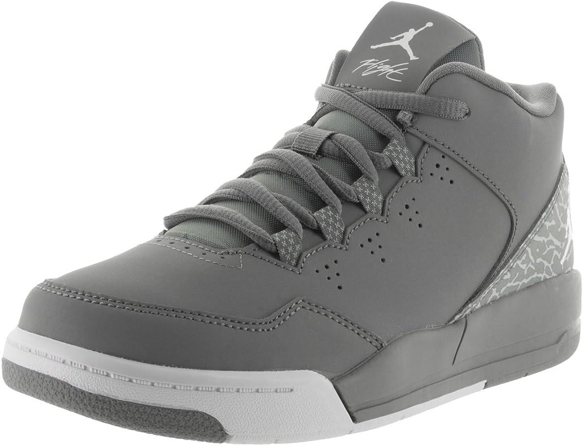 Jordan Nike Kids Flight Origin 2 Bp Cool Grey//White Wolf Grey Basketball Shoe 13 Kids US