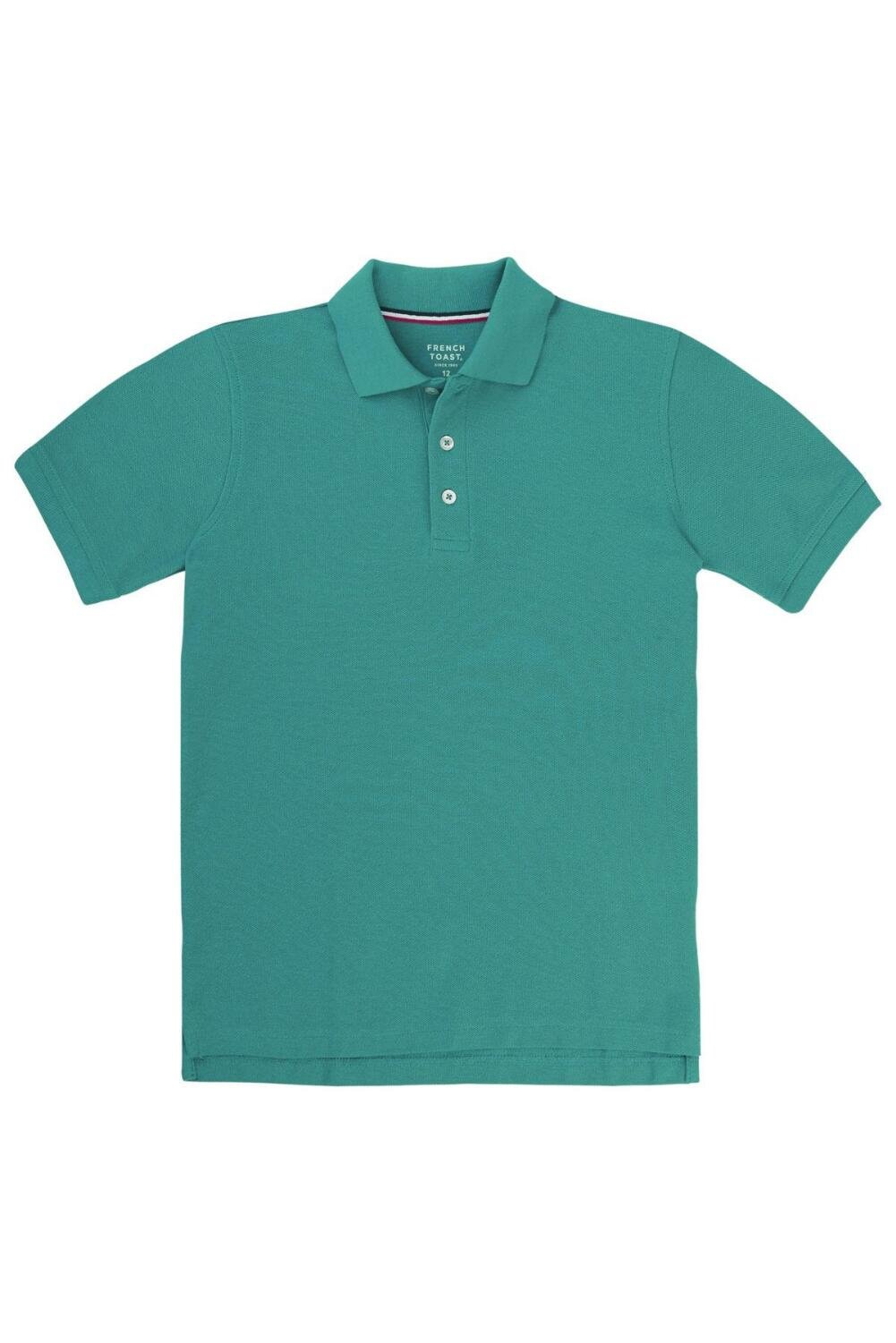 French Toast Little Boys' Short Sleeve Pique Polo, Teal, 4 by French Toast