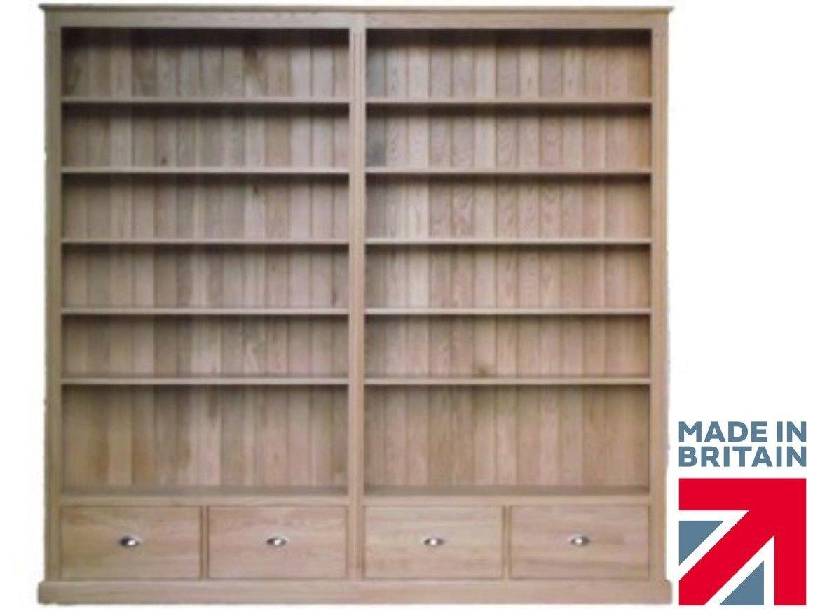 100% Solid Oak Bookcase, Massive 7ft 6