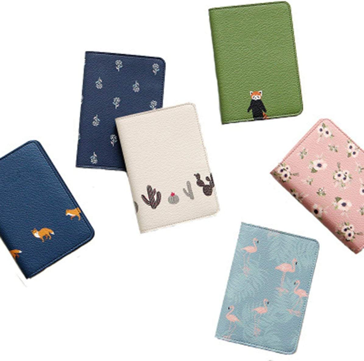 Random Longspeed Creative Passport Holder Protector Shiny Leather Wallet Purse Casual Business Card Holder Soft Passport Cover