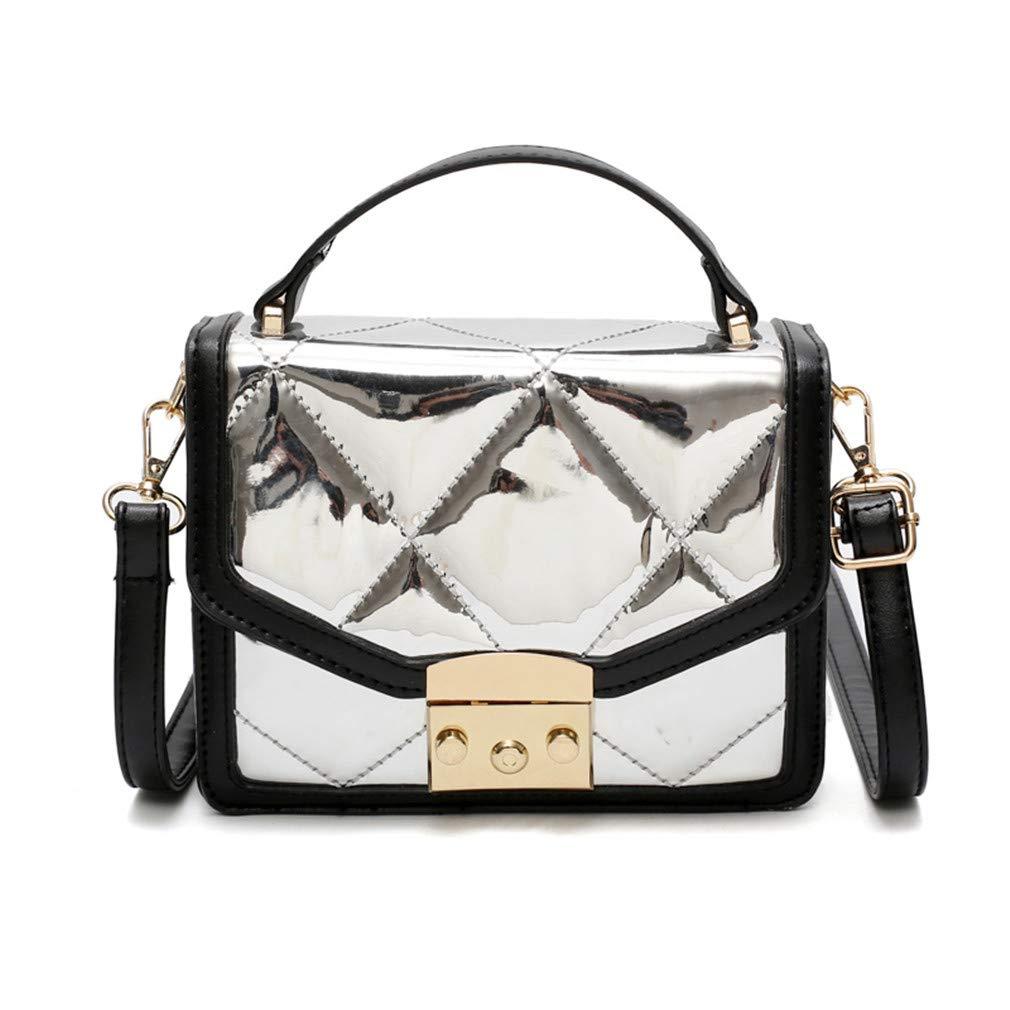 e9d05254c0ad Amazon.com: Cujubag Leather Women Plaid Folding Shoulder Bags Black ...