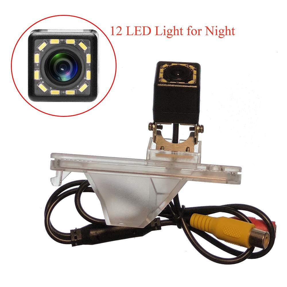 LED HD CCD Night /& Adjustable Angle Car Rear View Camera for Hyundai Santa Fe//Hyundai ix45//Hyundai Maxcruz//KIA Carens RP MK3//KIA Rondo RP /& Waterproof and Shockproof Reversing Backup Camera 8 LED aSATAH 5558990374