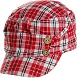 LL Women's Spring Summer Plaid Cadet Caps - Red
