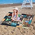 m·kvfa Portable Home Camping Blanket Pad Air Conditioning Quilt Outdoor Picnic Blanket Waterproof Compact Beach Blanket Mat Sand Proof Large for Camping Backpacking Hiking Travel Lightweight