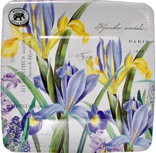 - Michel Design Works Lunch/Dessert Paper Plates, 8 Count, Hyacinth Iris