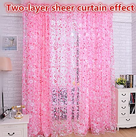 Amazon.com: WPKIRA Window Treatments Voile Tulle Panels Small ...