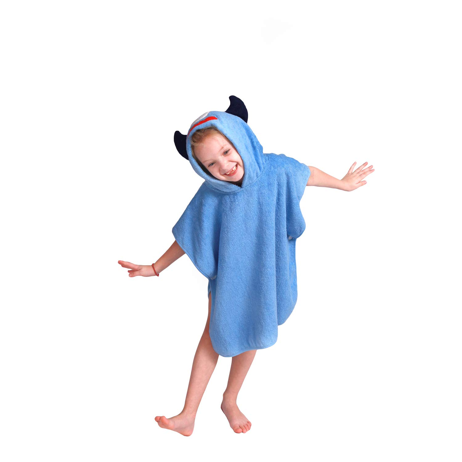 Hooded Bath Towel for Kids,Quick Drying Baby Cotton Shower Poncho Wraps for Bath,Beach,Swimming Pool Time,Best Gifts for Toddlers,24x47''