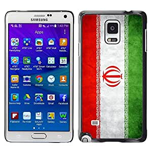 Slim Design Hard PC/Aluminum Shell Case Cover for Samsung Galaxy Note 4 SM-N910F SM-N910K SM-N910C SM-N910W8 SM-N910U SM-N910 National Flag Nation Country Iran / JUSTGO PHONE PROTECTOR