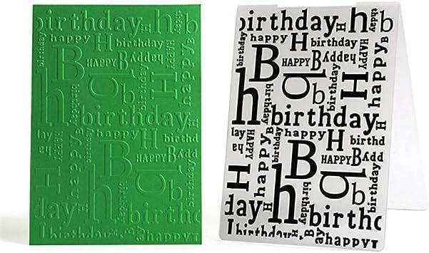happy birthday Embossing folders Plastic Embossing Folder Scrapbooking cardSEAU