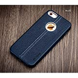 Vorson PU Leather Back Case Cover with Logo Cutout for Apple iPhone SE 5 5S - Blue
