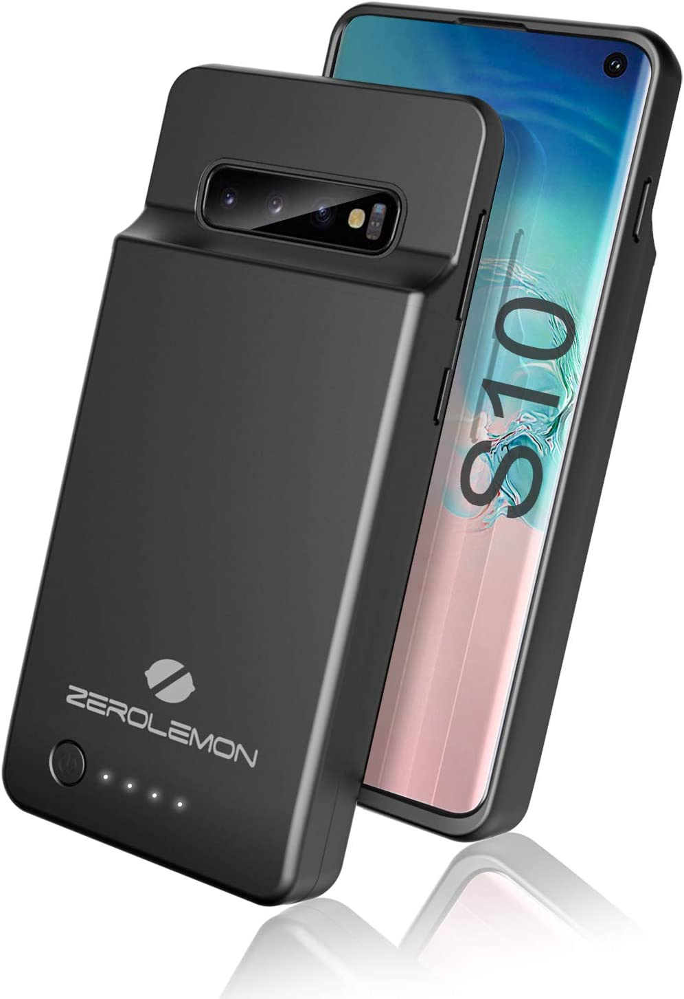 ZeroLemon Galaxy S10 Battery Case, 5000mAh Extended Rechargeable Battery with Soft TPU Protective Portable Case for Galaxy S10 - Black