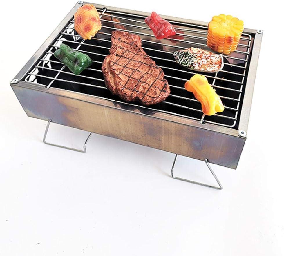 Griglia a carbone La griglia a fumo portatile può essere grigliata a casa Il giardino è anche molto adatto per il picnic in campeggio all'aperto-30 * 20 * 13 30 * 20 * 13