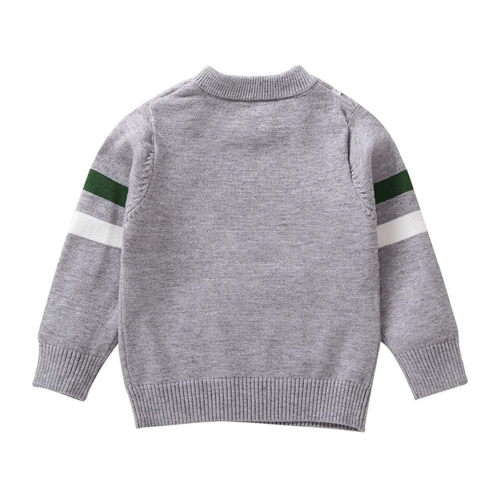 ELINKMALL Baby Boy Cartoon Crocodile Print Pullover Long Sleeve Sweater