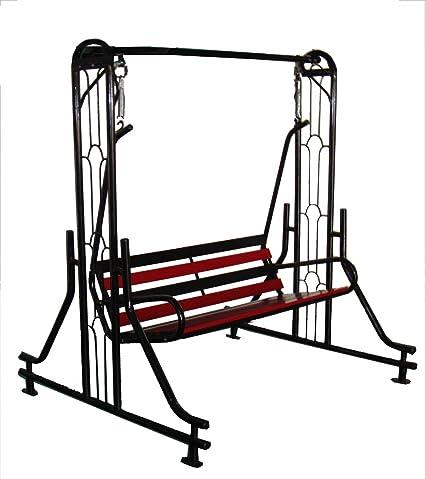Kaushalendra Garden Zula Swing Indoor Outdoor Swing Iron Patio Stand Hammock
