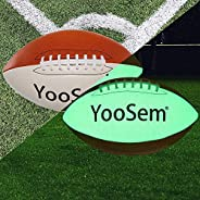 Leather Game Light Up Football Official Size 9 Super Grip Football for Night Games & Training Brown Ver