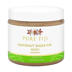 Pure Fiji Coconut Sugar Rub NONI Infusion, 16 oz.