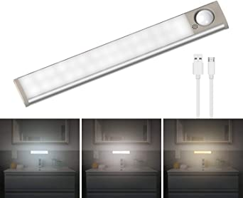 LED Unterbauleuchte Lampe Leuchte Keller Werkstatt Küche Bewegungsmelder weiß