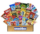 The smashbox Sweet and Salty Pack   1x Cheez-It 1.5 ounces   1x Keebler Club Peanut Butter Bites 1 ounce   4x Welch's Fruit Snacks 0.90 ounces   1x Pringles Original 1.3 ounces   1x Fiber One Chewy Bars Oats and Chocolate 1.4 ounces   1x Nat...