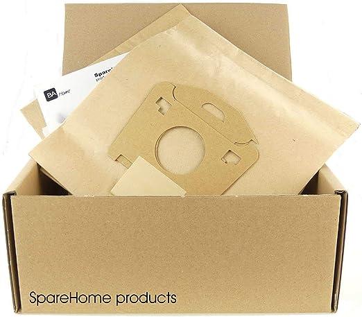 10 Bolsas de Alta filtración para aspiradores Moulinex Atmosphere, ATM 1400 LE, ESF 51-53: Amazon.es: Hogar