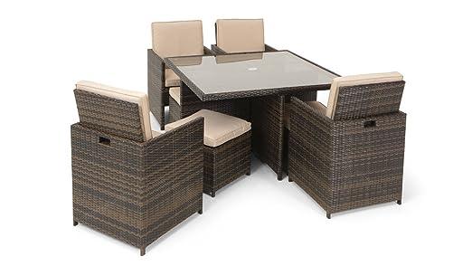 Lilo All Weather Asiento de ratán Cubo 4 – 8 Mesa sillas taburetes ...