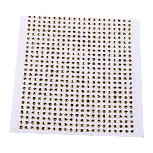 3D Fishing Eyes 500pcs Fishing Lure Eye Great Accessory For Make Fishing Bait,Fly Tying, Fishing Lures, Crafts