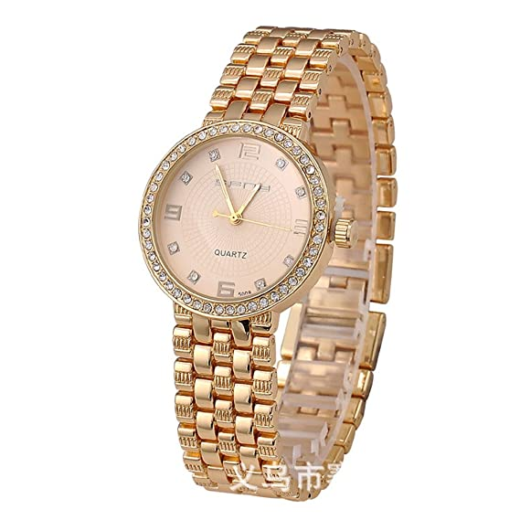 Diamond moda al por mayor Pulsera Relojes Mujeres señorita Gao Pinzhi Steel Band de Gol: Amazon.es: Relojes