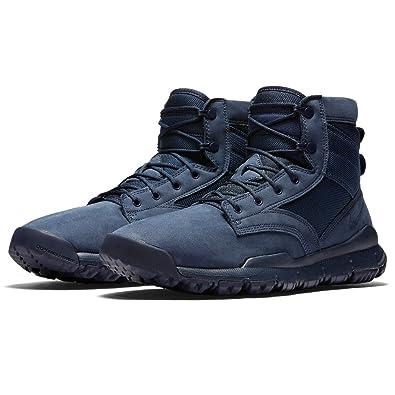 "a59c8688bb Nike Men's SFB 6"" NSW Leather Sneaker Boot 862507 401 Obsidian/Obsidian  (9.5"