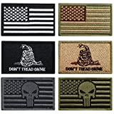 #6: Bundle 6 Pieces Tactical Military Morale Patch Set (A)