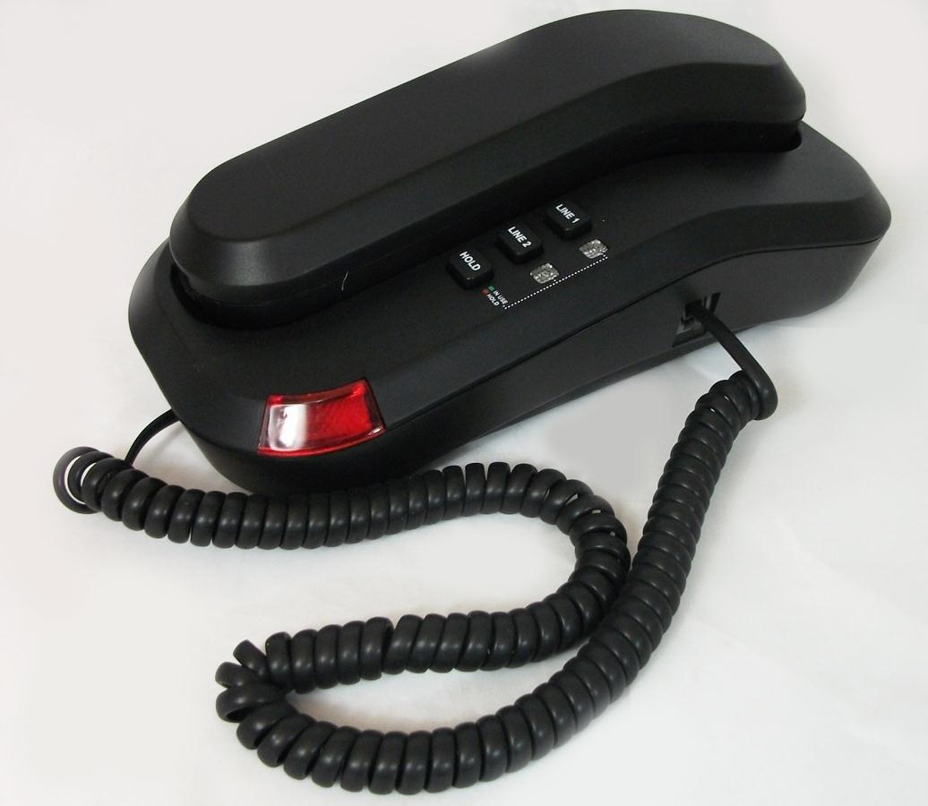 Cetis Telematrix 2L Trimline Two Line Telephone Black by Cetis