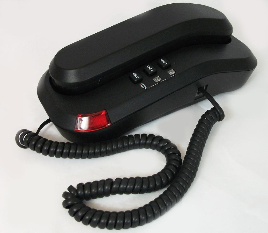 Cetis Telematrix 2L Trimline Two Line Telephone Black