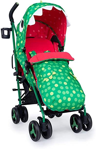 Opinión sobre Cosatto Supa 3 Pushchair – Lightweight Stroller from Birth to 25kg | Compact Fold, Large Shopping Basket, Footmuff (Dino Mighty)