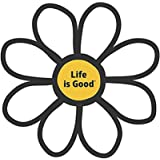 Life is Good. Die Cut Sticker - Daisy - Cloud White