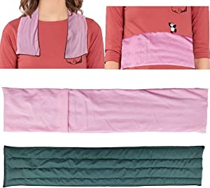 Heating Pad Microwavable Moist Therapy Reusable Extra Large Heavy Weighted Warm Heat Compress Pack for Back Pain Relief, Neck and Shoulders (3)