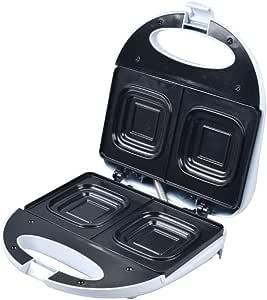 Deep Dish Sandwich Maker Press Toaster Toast Nonstick square bread loaf 2 Slice