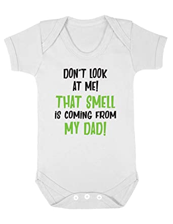 Don/'t Look at me the Smell is Coming Vest Baby Grow 100/% Cotton Boys Girls Bodys