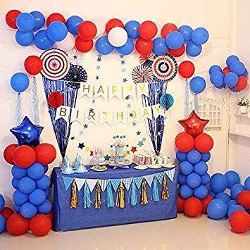 Baby Birthday Balloon Dessert Table Decoration Creative Children Party Dressing Supplies Blue And Red