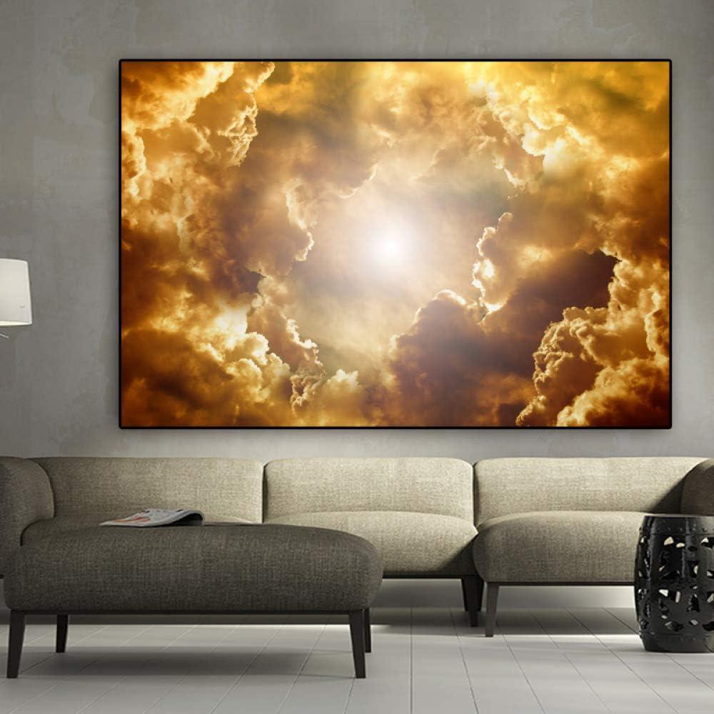 NIMCG Paisaje Impresión Cielo y Nube Lienzo Pintura Póster Cuadros de Pared para Sala Quadro Home Imagen Decorativa 70x100cm (Sin Marco): Amazon.es: Hogar