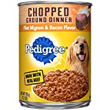 Pedigree Chopped Ground Dinner Canned Wet Dog Food Filet Mignon & Bacon Flavor, (12) 13.2 Oz. Cans Larger Image