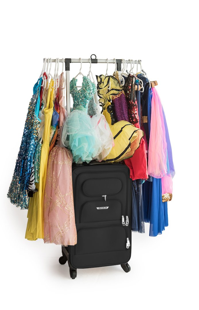 The Dance Angel Suitcase Carry-On Solid Black ''Broadway Black''