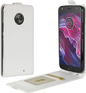 Funda® Capirotazo Billetera Funda para Motorola Moto X4 (Blanco): Amazon.es: Electrónica