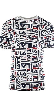 40b7b3d69d Fila Men's Charlie All Over Logo Print T-Shirt | Amazon.com