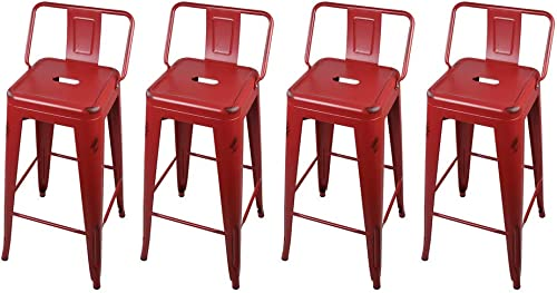 GIA M01-30B_RED_4_VC 30-Inch Low-Back Bar Height Stool