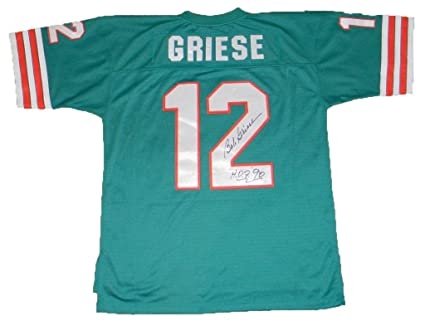 Bob Griese Signed Jersey #12 Mitchell & Ness JSA Certified  free shipping