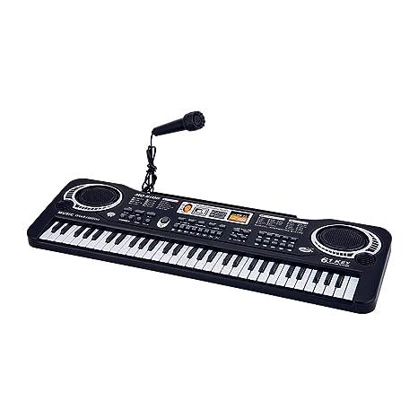 ASTOTSELL Piano para Niños, 61 Teclado Electrónico de Piano Electrónico Teclado de Música Karaoke con